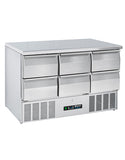 Blizzard BCC3-6D-ECO 6 Drawer Compact Counter Refrigerator-B GRADE