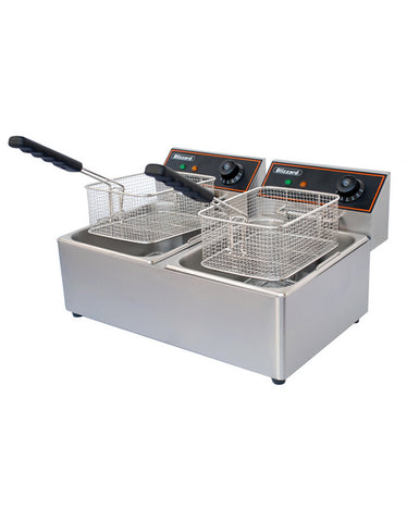Blizzard BF6+6 Twin Tank Counter Top Fryer