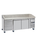 Blizzard BPB2000-7N Pizza Counter with Neutral drawers