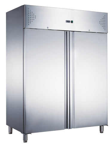 Zero GN1410TN-HC Double Door Stainless Heavy Duty Upright Refrigerator