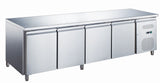 Zero GN4100TN-HC 4 Door Stainless Steel Counter Refrigerator