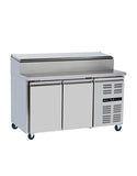 Blizzard HBC2EN 2 Door Prep Counter Refrigerator