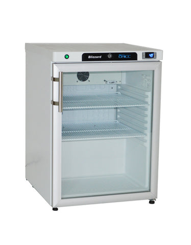 Blizzard HG200SS Under Counter Glass Door Refrigerator