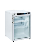 Blizzard HG200WH Under Counter Glass Door Refrigerator