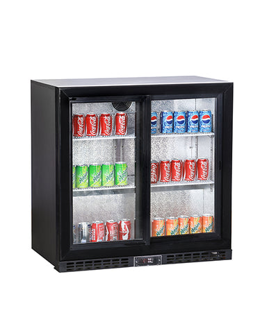 Koldbox KBC2 Hinged Back Bar Double Door Bottle Cooler