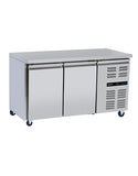Blizzard LBC2SL 2 Door Slim-line Prep Counter Freezer