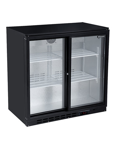 Blizzard LOWBAR2SL Double Sliding Door Low Height Bar Bottle Cooler