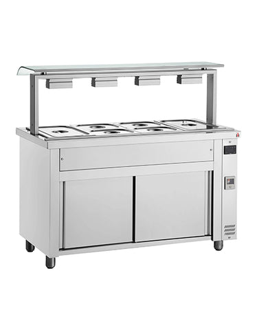 Inomak MJV718 5 X 1/1 Heated Bain Marie with Sneeze Guard