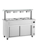 Inomak MVV714 4 x 1/1 Bain Marie with Ambient Base & Sneeze Guard