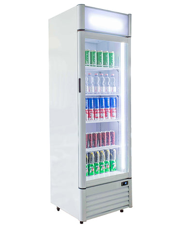 Blizzard Qr350 Upright Glass Door Display Drinks Fridge Commercial