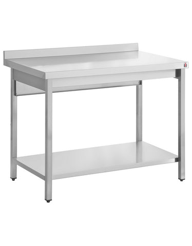 Inomak TL709U 900mm Stainless Centre Tables With Upstand