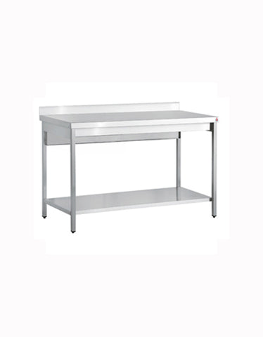 Inomak TL716U 1600mm Stainless Centre Table with Up Stand