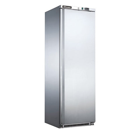 Blizzard HS400 320L Stainless Single Door Upright Refrigerator