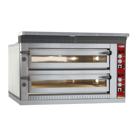 Diamond LD8/35-N Twin Deck 2 x 4 Pizzas 350mm Electric Pizza Oven