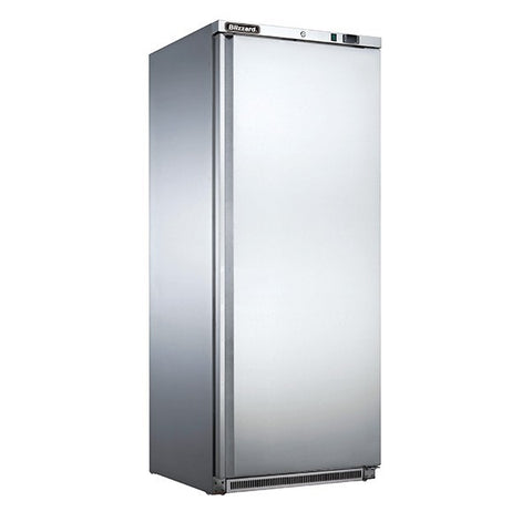 Blizzard LS600 600L Stainless Single Door Upright Freezer