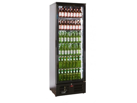 Prodis NT10-HC Hinged Single Door Upright Black Bottle Cooler