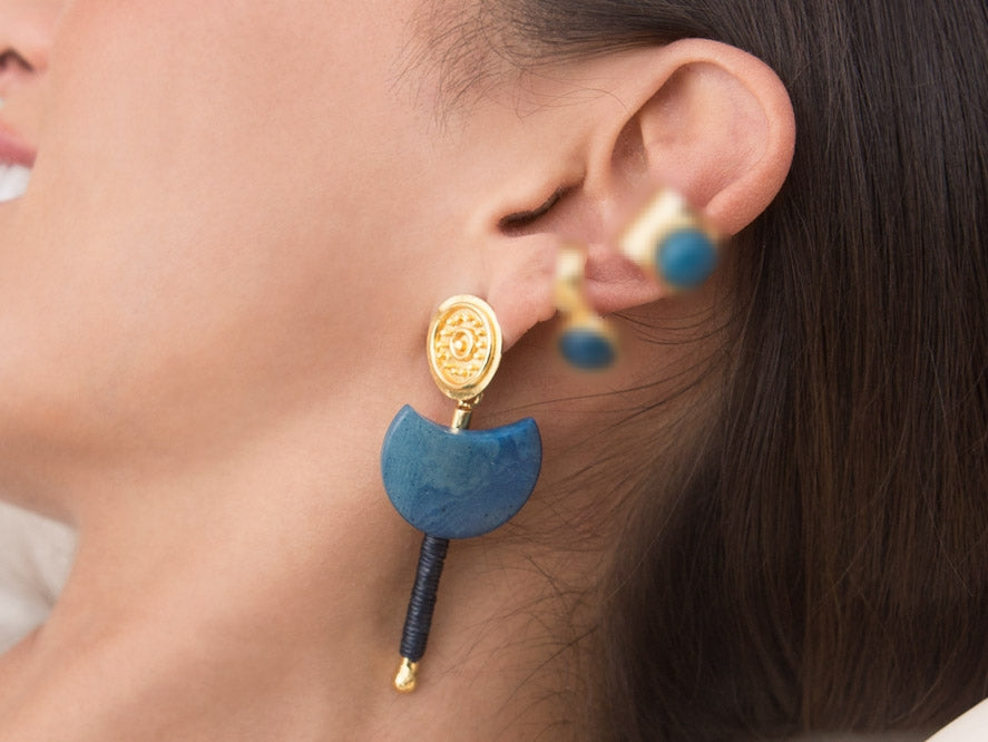 Helene Midi Tagua Earrings