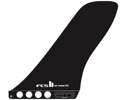 "FCS II Touring 9"" paddleboard fin- Glass Flex"