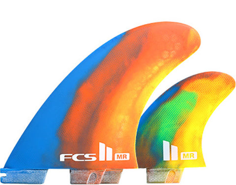 FCS II Mark Richards PC Twin + Stabilizer Fin Set