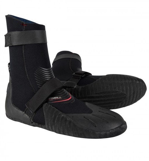 O'Neill Heat 7mm wetsuit booties- round toe