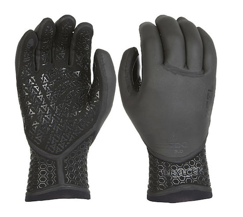 XCEL Drylock Texture Skin 5 Finger Gloves 3mm