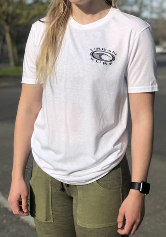 Men & Women's Retro Logo Tee - White