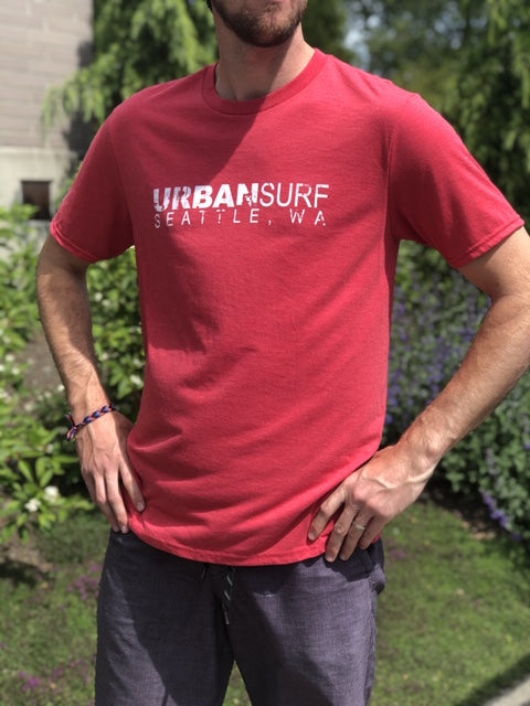 Urban Surf Tech Logo Tee - Red Frost