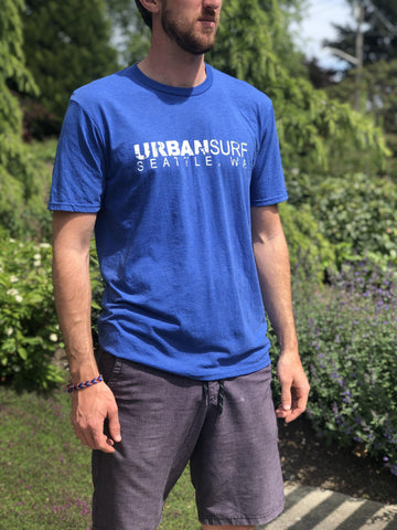 Urban Surf Tech Logo Tee - Royal Frost - Urban Surf