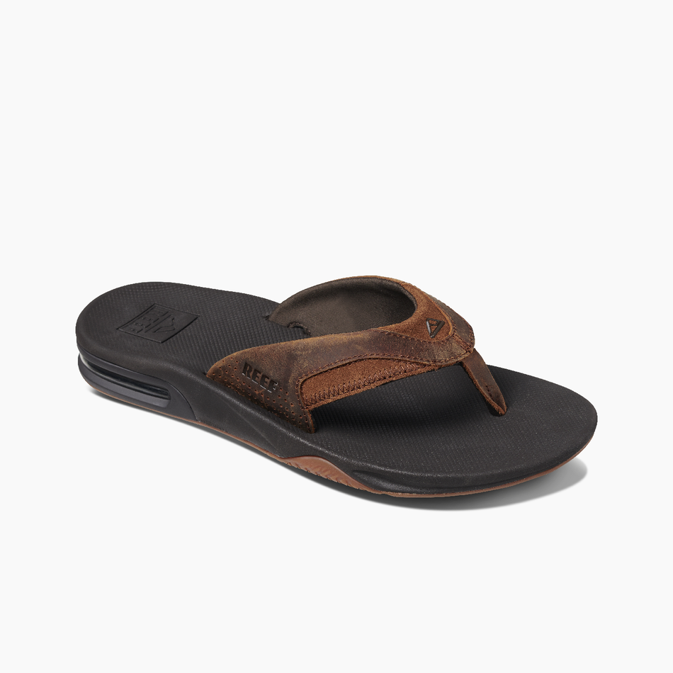 Men's Reef Leather Fanning Sandal - Urban Surf