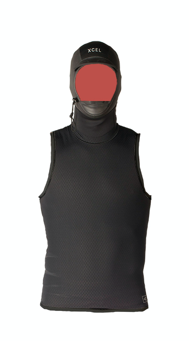 XCEL Celliant Jacquard Vest with 2MM wetsuit hood