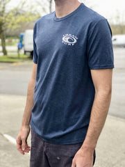 Men & Women's Retro Logo Tee - Navy Frost