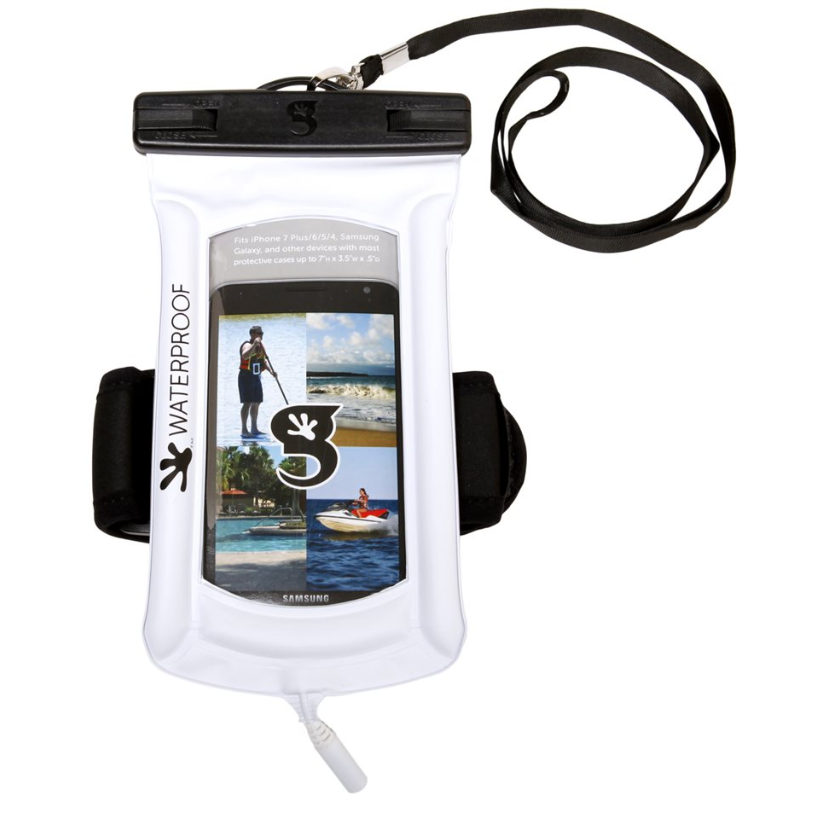 Geckobrands Waterproof Float Phone Dry Bag With Audio Cord and Arm Band - choose color