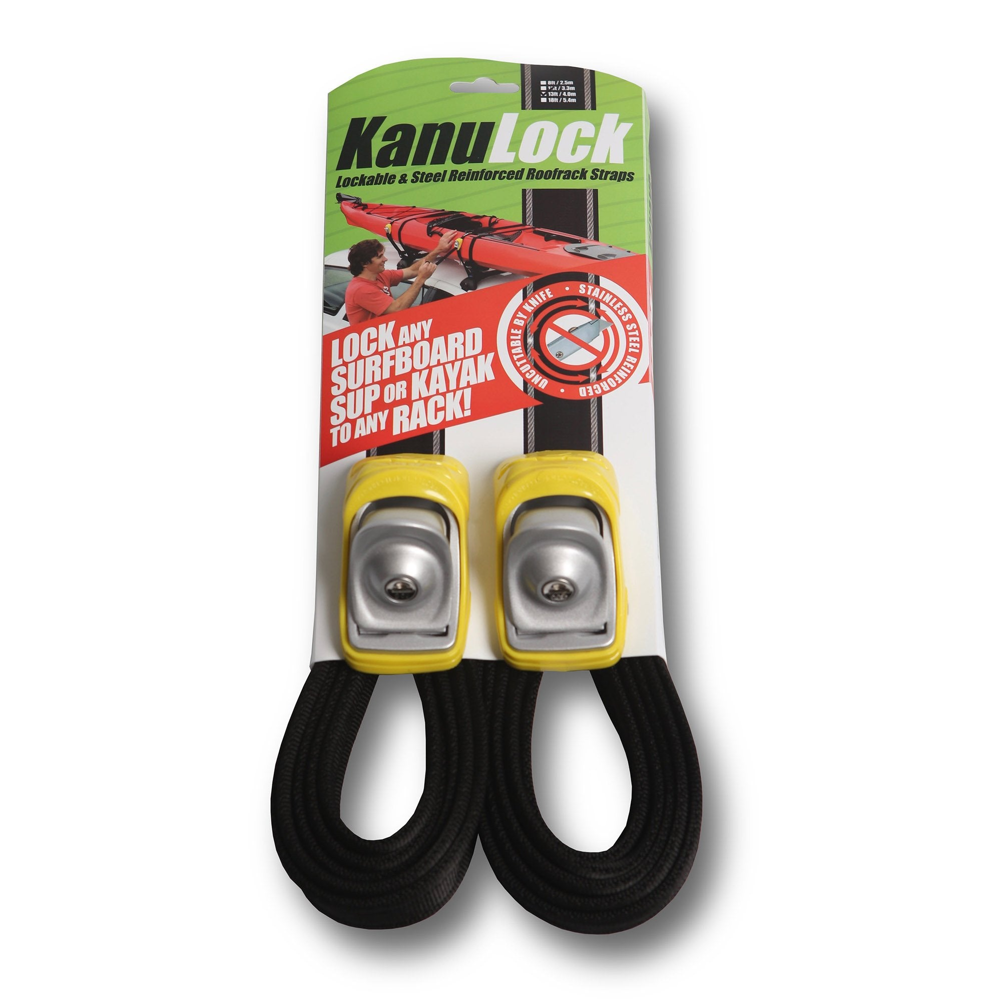 KanuLock Lockable Tie Down Straps - 13'