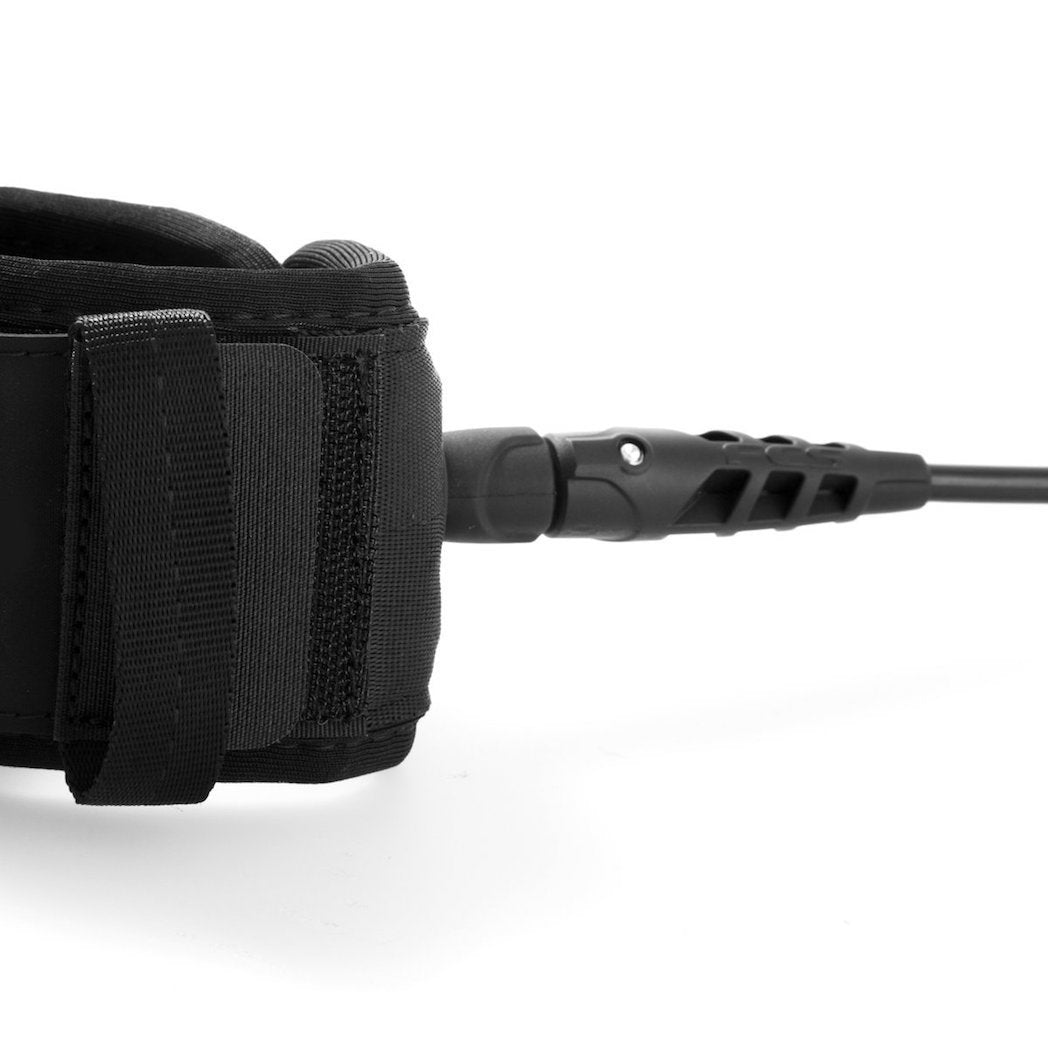 FCS Regular Essential Leash - Black - Choose Size 7' or 8'