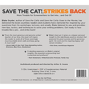 Save the Cat! Audiobook Back Cover