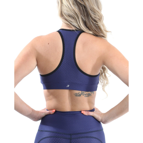 SALE! 50% OFF! Venice Activewear Set - Leggings & Sports Bra - Navy [MADE IN ITALY] - Size Small
