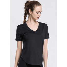 Short Sleeve Hollow Mesh Tee - Fits4Yoga