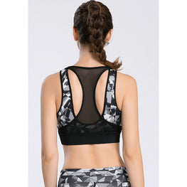 Geometry Print Yoga Bra - Fits4Yoga