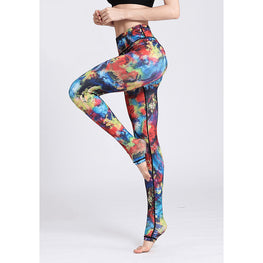 Color Palette High Waist Stretchy Leggings - Fits4Yoga
