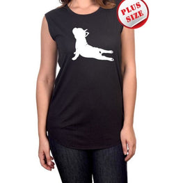 French Bulldog Yoga Pose Screen Printed (In Store Only) | Fits4Yoga