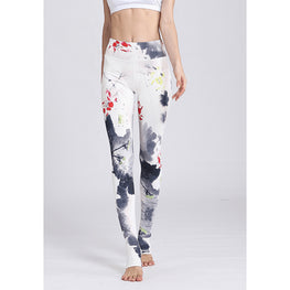 Flower Print Leggings - Fits4Yoga