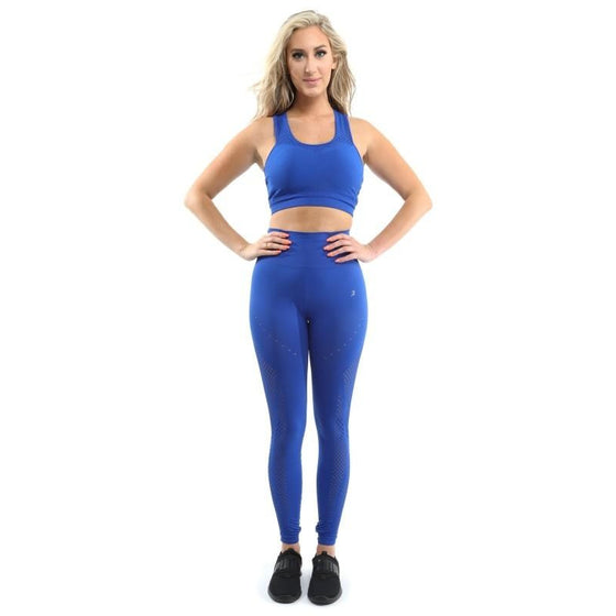 SALE! Milano Seamless Sports Bra - Blue [MADE IN ITALY]
