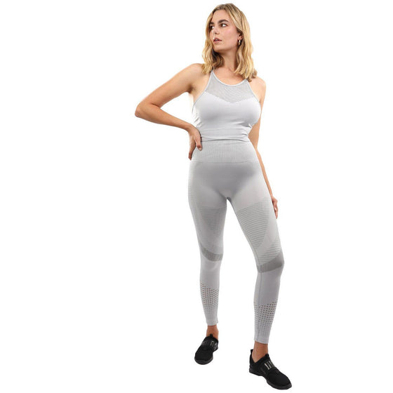 Helia Seamless Leggings & Sports Bra Set - Grey