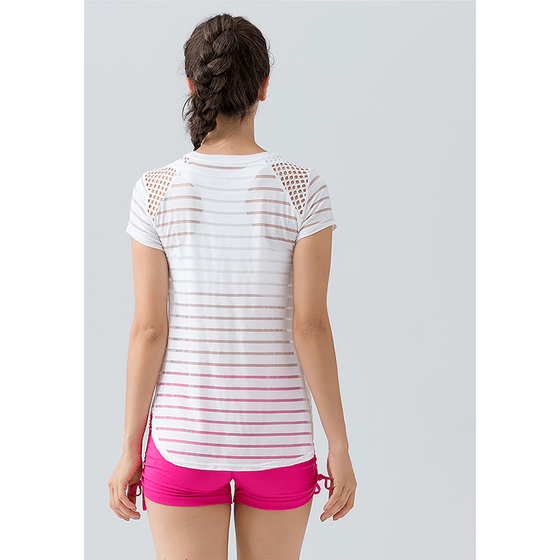 Stripe Hollow Out Top - Fits4Yoga