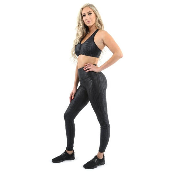SALE! 50% OFF! Genova Activewear Set - Leggings & Sports Bra - Black [MADE IN ITALY] - Size Small