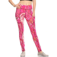 Pink Water Flow Yoga Leggings