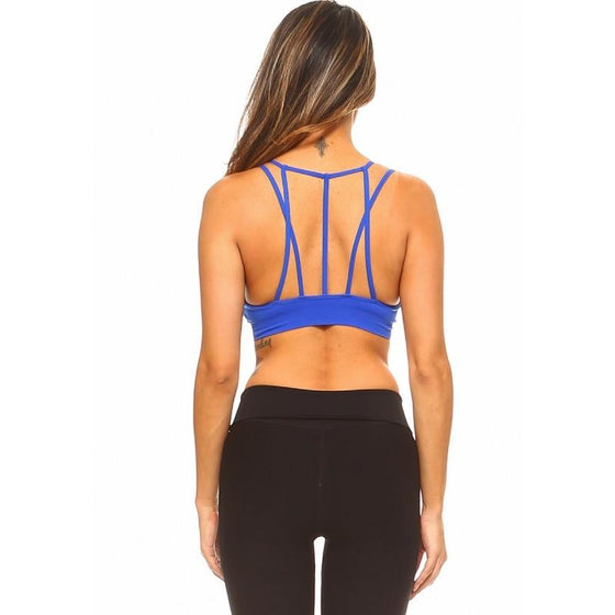 Multi Strap Sports Bra w/Front Mesh (In Store Only) | Fits4Yoga