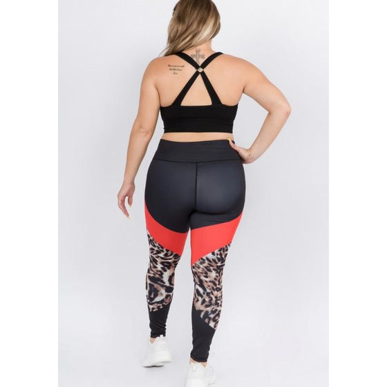Cheetah Print Workout Leggings | Fits4Yoga