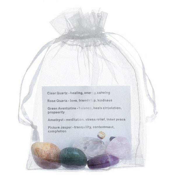 5 healing stones with Drawstring Pouch (In store Only) | Fits4Yoga