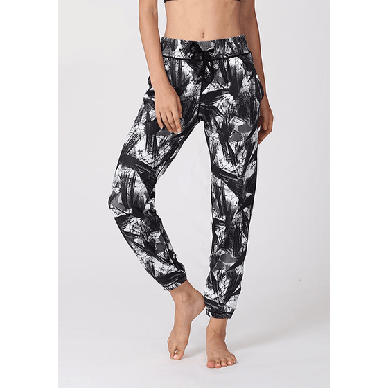 Print Mesh Loose Yoga Pants - Fits4Yoga